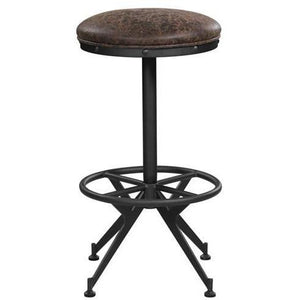 Backless Upholstered Bar Stools Two-Tone Brown (Set Of 2) - HER Home Design