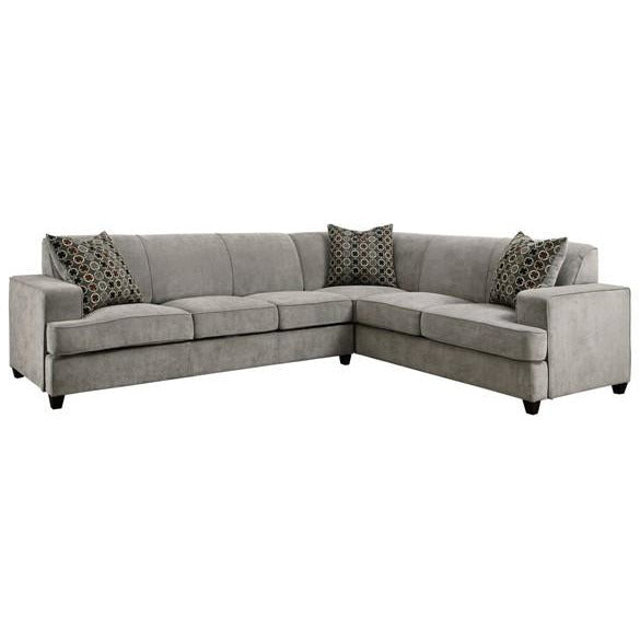 Tess L-Shape Sleeper Sectional in Grey