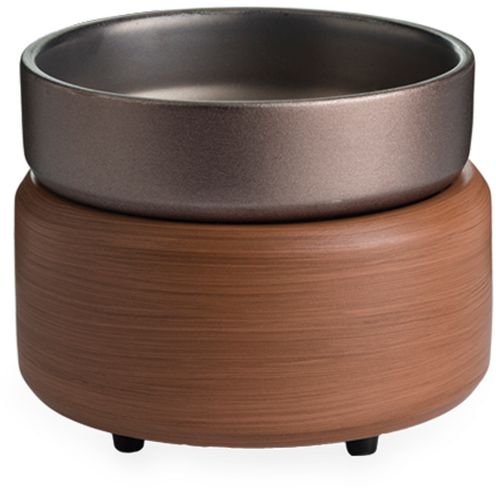 Walnut 2-in-1 Classic Fragrance Warmer in Pewter - HER Home Design