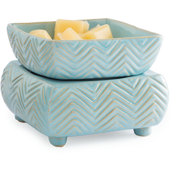 Chevron 2-in-1 Classic Fragrance Warmer in Blue - HER Home Design