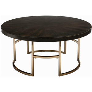 Round Coffee Table Americano And Rose Brass