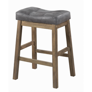 Upholstered Counter Height Stools in Driftwood Brown (Set of 2)