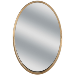 Double-Framed Oval Mirror in Gold 20x30