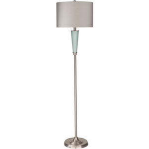 Goswell Floor Lamp in Gray and Green - HER Home Design