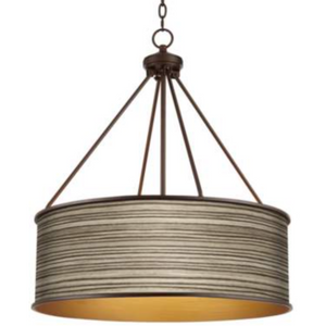 Julie Bronze Pendant Light in Cedar Zebra Wood