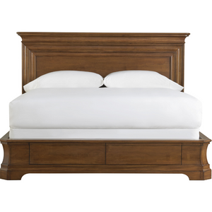 Kingsbury King Platform Bed with Storage in Cognac - HER Home Design
