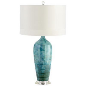 Elysia Table Lamp in Turquoise Blue