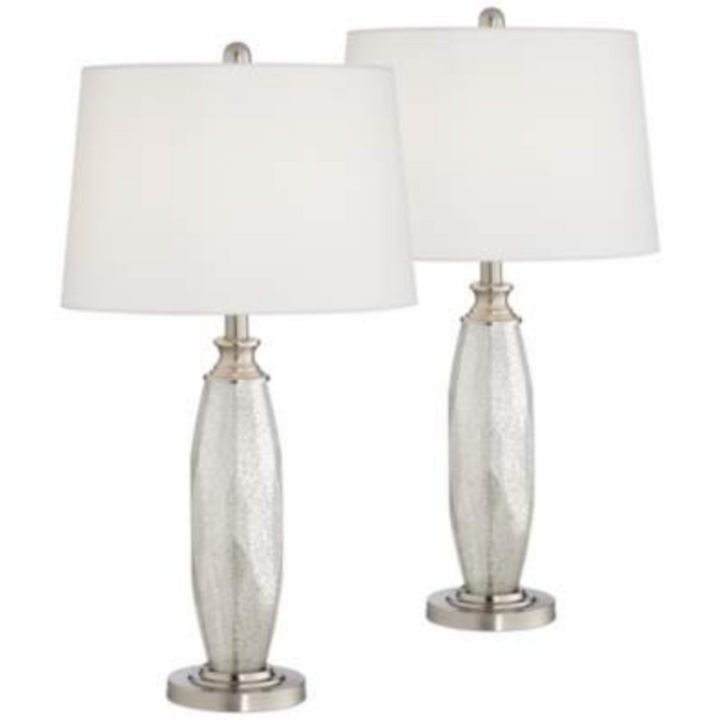 Mercury Glass Table Lamps Set of 2