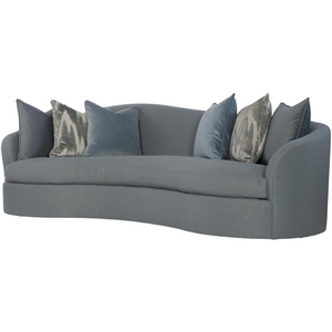 Moderne Curved Sofa in Slate Gray