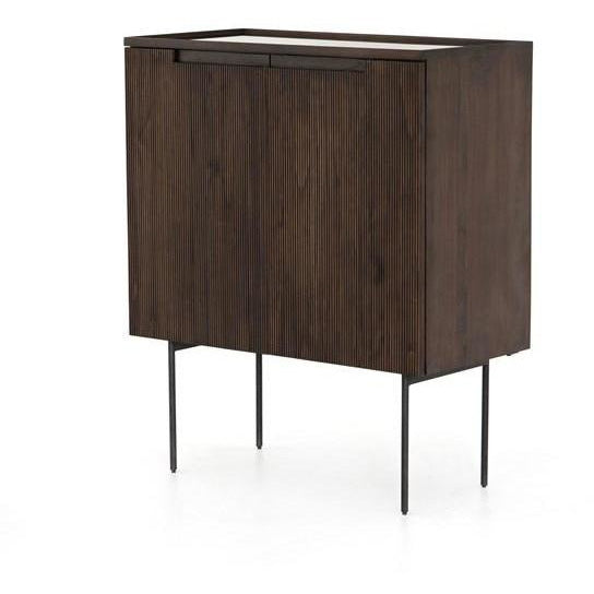 Bar Cabinet in Dark Brown - HER Home Design