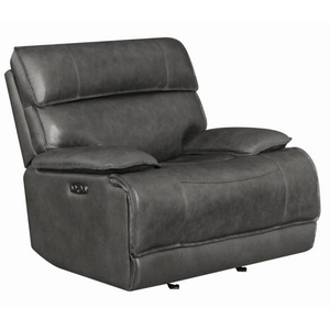 Power2 Glider Recliner in Charcoal - HER Home Design