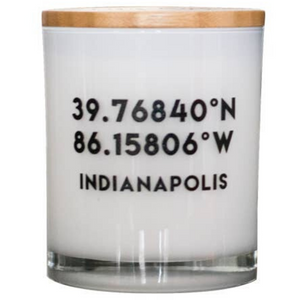Rep Your City - Indiana Soy Candle in Basalm and Cedar - HER Home Design