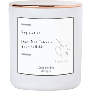 Sagittarius - Does Not Tolerate BS - Luxe Scented Soy Candle