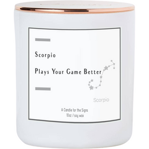 Scorpio - Always the Winner - Luxe Scented Soy Candle
