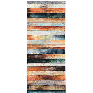 20x50 Hand-Painted Wall Art in Multi-Color - HER Home Design