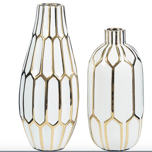 Glazed Ceramic Vases (Set of 2) - HER Home Design