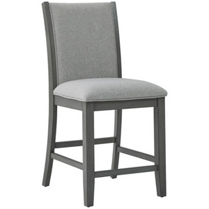 Modern Pub Chair in Grey (Set of 2) - HER Home Design