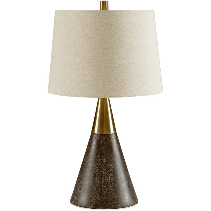 Mid-Century Modern Table Lamp in Gold - HER Home Design