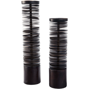 Tower Candle Holders in Rubbed Oil Bronze (Set of 2) - HER Home Design