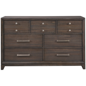 Transitional Seven Drawer Dresser in Chestnut - HER Home Design