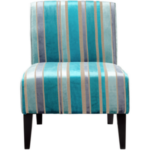 Funky Slipper Accent Chair in Turquoise Blue