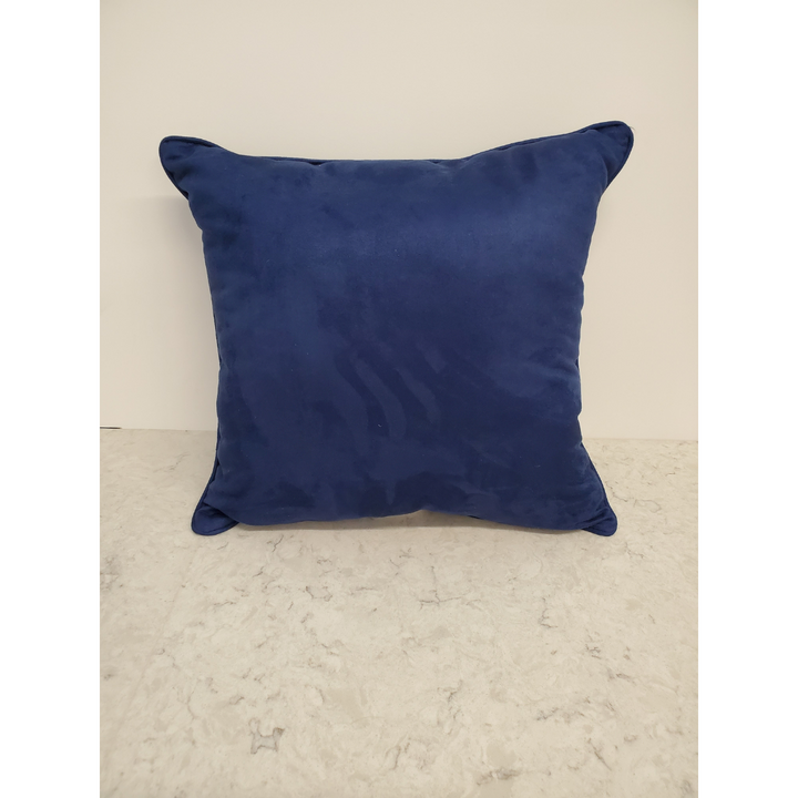 Navy Suede Pillow