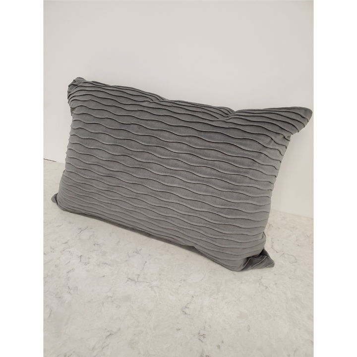 Accent Pillow, gray ripple pattern