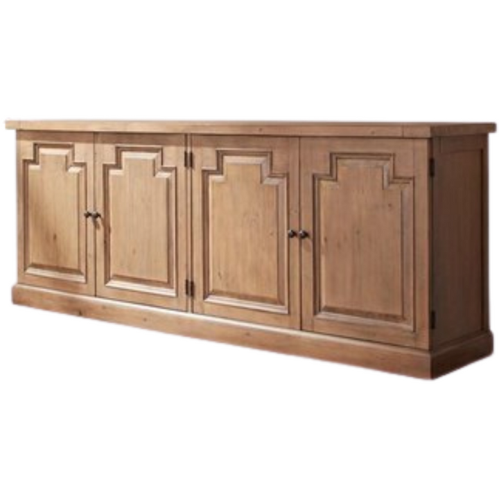 4-Door Sideboard Rustic Smoke