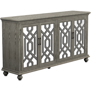 4-door Accent Cabinet in Weathered Gray