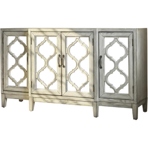 4-Door Accent Cabinet in Antique White