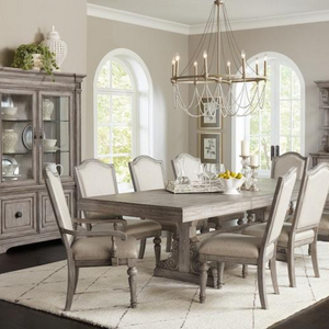 Modern Farmhouse Dining Room Set in Aged Grey