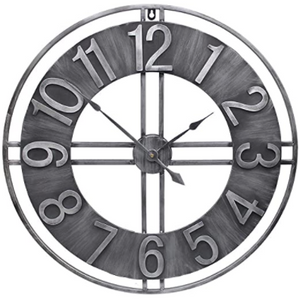 "30"" Wall Clock in Solid Metal"
