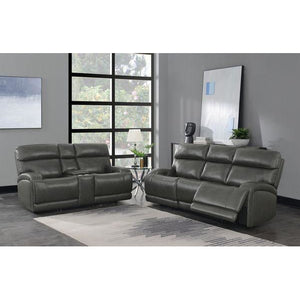 Longport 2-Piece Upholstered Power Living Room Set in Charcoal