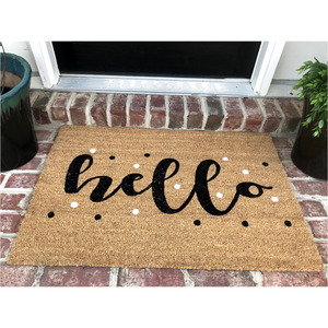 Welcome Door Mat: Hello!