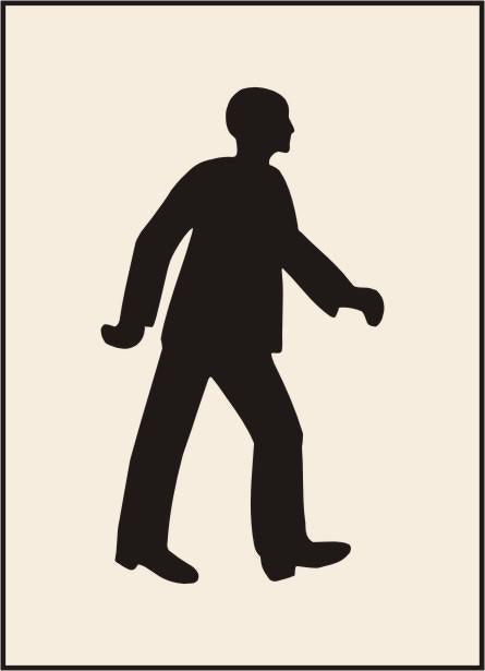 Walking Man Stencil (600 x 800mm)