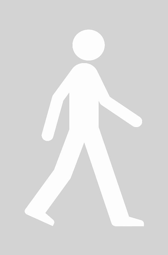 Walking Man Stencil (400 x 600mm)