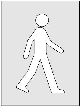 Walking Man Stencil (190 x 300mm)