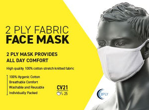 2 Ply Fabric Face Mask (Box 25)