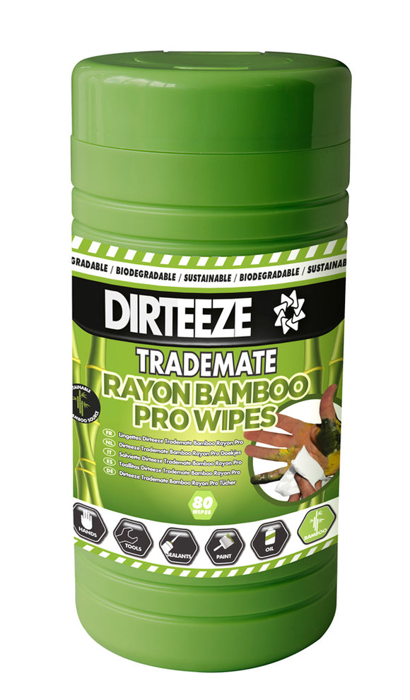 Trademate Bamboo Rayon Wipes (Tub 80)