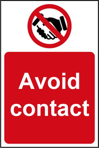 Avoid Contact Rigid PVC Wall Sign (200 x 300mm)