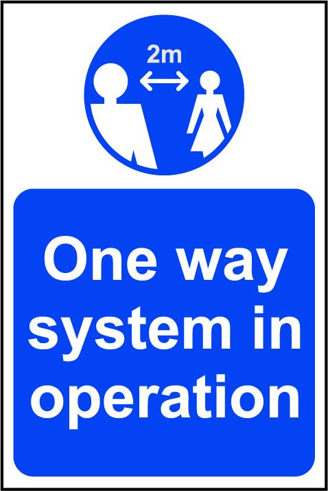 One Way System in Operation A Board (Blue)