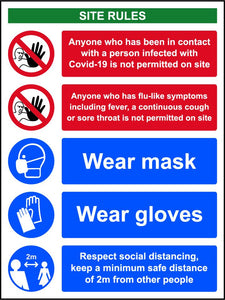 Covid -19 Workplace Safety Sign (300 x 400mm)
