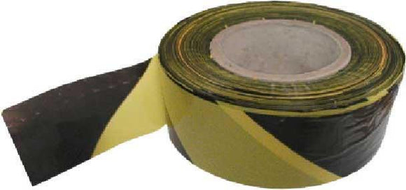 70mm x 500m Black/Yellow Non Adh Tape