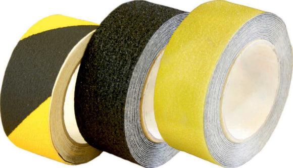 50mm x 18.2m Black/Yellow Anti Slip Tape