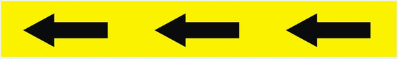 Black & Yellow Arrow Tape (33m Roll)