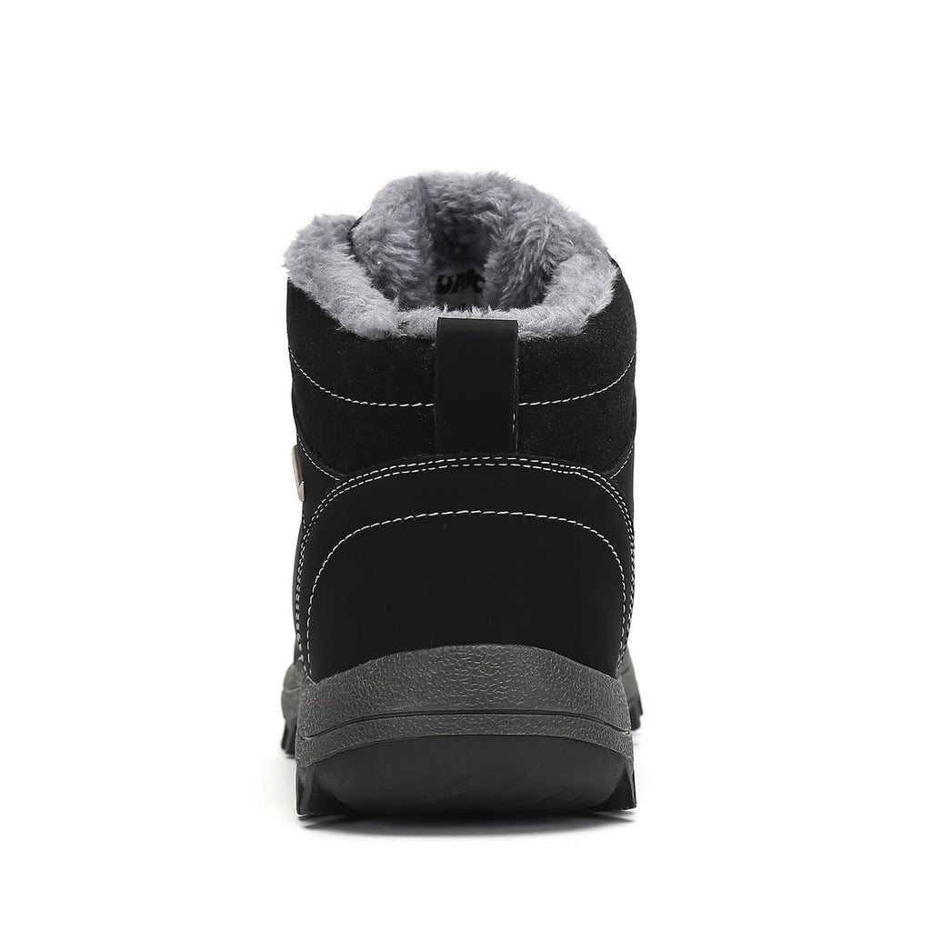 Mishansha Mens Fur Lined Boots Ankle Stylish Winter Boots