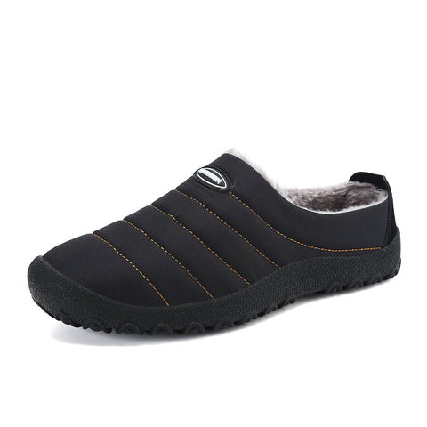 Mishansha Men Rubber Black House Form Slippers