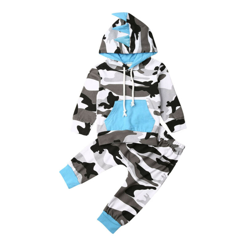 Blue and Gray Camo Tracksuit
