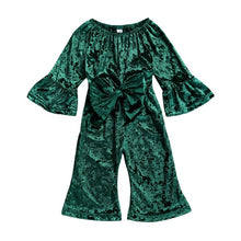 "Load image into Gallery viewer, ""Bring on the Velvet"" Romper"