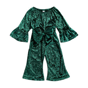 """Bring on the Velvet"" Romper"